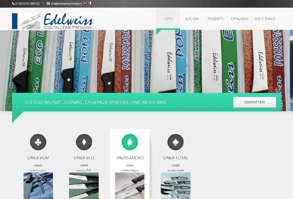 sito edelweiss coltellerie - serenacomunicazione